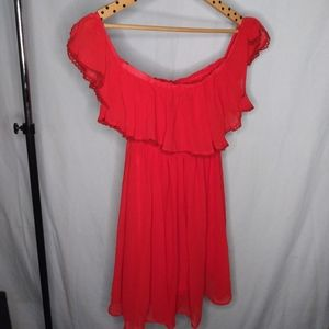 Cherry Red Ruffle dress